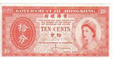 HONG KONG, 10 CENTS, QEII, ND, UNC