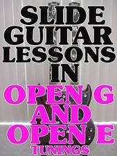 Slide Blues Guitar Lessons in Open E and G Tunings DVD Expand Your Licks.