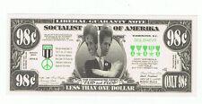 2004 John Kerry Novelty Bill Fun Money Note Political Flip Flop Liberal Two Face