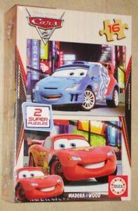 Educa Disney Cars 2 x 16 pcs wood jigsaw puzzle 14934 new sealed