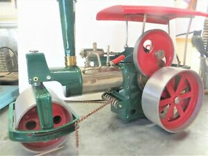 Wilesco Dampfmaschine Old Smoky Dampfwalze ,neu aufgebaut , U/62