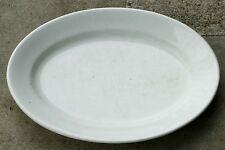 "Baker & Chetwynd White English Ironstone China Thick 19"" Oval Platter 1869-1875"