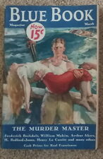 BLUE BOOK March 1933: Murder Master & more Excellent condition Fine Pulp