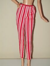 Barbie Doll Clothes Red White Striped Leggings Pants Candy Cane P08