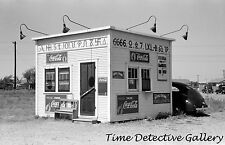 Hamburger Stand with Cattle Brands, Dalhart, Texas - 1939 - Historic Photo Print
