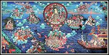 "Mysterious!   ""Thankga Fine Art Print from Tibet""   (17.75"" High x 35"" Wide)"