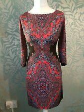 Wallis Womens Bodycon Dress Size M Paisley Pattern
