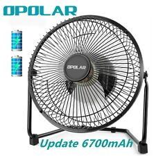 OPOLAR Portable Desk Table Fan, Rechargeable Battery Cooling Fan, 6700mAh, Quiet