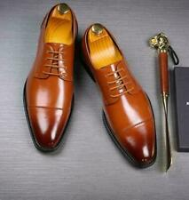 Mens Business Leather Dress Formal Casual Lace Up Wedding Chunky Office Shoes Sz
