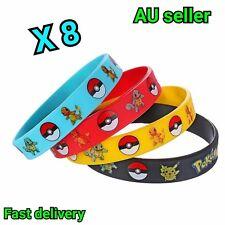 8 X POKEMON party favour wristband bracelet Pokemon party supplies