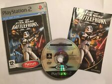 PLAYSTATION 2 PS2 GAME STAR WARS BATTLEFRONT 2 BATTLE FRONT II BOXED COMPLETE