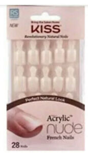Kiss Salon Acrylic Nude French Nails Nude 64266 REAL SHORT C
