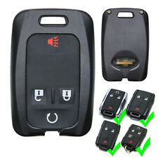 Aluminium Black Remote Key Fob Shell Case for Chvey Chevrolet Silverado Colorado
