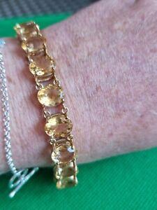 9ct Gold Citrine Bracelet 26.4g (G20)