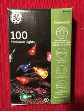GE 100ct CONSTANTON MULTI COLOR Christmas String Lights holiday green wire mini
