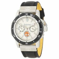 Timberland TBL-13334JSTB-01A Gent's Silver Dial Black Strap Watch