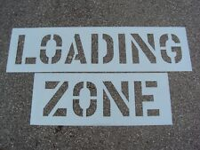 "18"" Loading Zone Parking Lot Stencil, Easy to Read, Nicely Spaced. 1/16"" Ldpe"