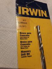 "Lot of 2 irwin 3/16"" #977 Masonry  Drill Bit Carbide tipped  3-1/2"" Long"