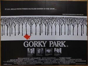 GORKY PARK (1983) - original UK quad film/movie poster, mystery crime thriller