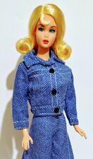 Barbie Clone Doll Outfit: Crisp Denim Jeans Look Matching Jacket Pants Bag Shoes