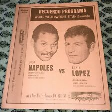 JOSE NAPOLES V ERNIE LOPEZ-WORLD WWC-1970-BOXING PROGRAM-SEE MY OTHER BOXING!!!