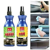 100ml Car Interior Polish Wax Plastic Leather Seat Panel Cleaning Tire Dash C6B2
