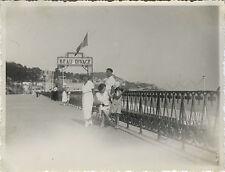 PHOTO ANCIENNE - VINTAGE SNAPSHOT - NICE BEAU RIVAGE HÔTEL FAMILLE MODE 1935