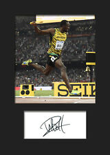 USAIN BOLT #1 Signed Photo A5 Mounted Print - FREE DELIVERY
