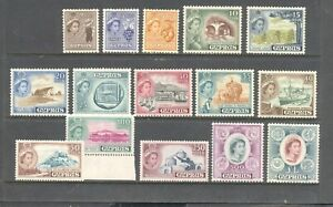 CYPRUS , 1955--1960 , set of 15 stamps , all UNMOUNTED MIINT , MNH.