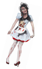 Horror Zombie Country Girl Halloween Costume Dress Skeleton Chest Creative Props