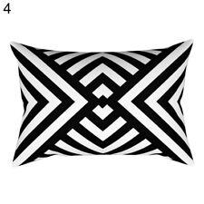 Eg _ Schwarz und Weiß Geometrie Kissenbezug Sofa Auto Kissen Hülle Dekor Kawa