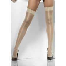 Womens Sheer Shine Hold Ups Nude Tights High Lace Valentine Day Sexy Stockings