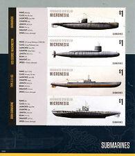 Micronesia 2015 MNH Submarines 4v M/S I Boats Ships Submarine Barbarigo Stamps