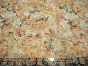 3 Yards Digital Cotton Fabric - QT Fabrics Dan Morris Botanica Cream Brwn Marble