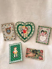 #2 Vintage Collection (5) Whitney Made, Lace, Die Cut Other Valentine Cards