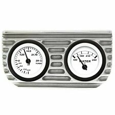 Vintage® Finned Dual Bezel Mount w/ Aurora® Boost and Water Gauges VPAGB2BW