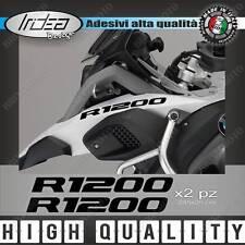 2 ADESIVI SERBATOIO STICKERS MOTO BMW R 1200 GS ADVENTURE LC 245X25 MM NERO