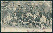 Militari Bersaglieri Frontiera Franco Italiana VII Reggimento cartolina QT5615