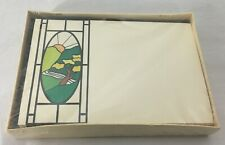 Fremarque Publishing Stationery 10 Tiffany Mailers in Box Stained Glass Style