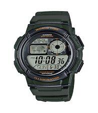 Casio Men's Quartz Illuminator Digital Green Resin Strap 44mm Watch AE1000W-3A
