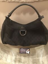 Gucci GG Coated Canvas Large Abbey D-Ring Hobo Bag