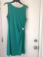 Michael Kors Womans L Sleeveless Green Dress NWT