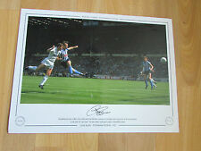 Clive ALLEN Tottenham Hotspur 1987 Hand Signed AUTOGRAPHED Editions LE Print