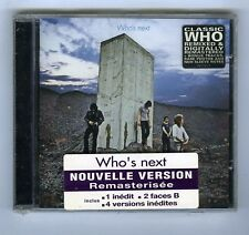THE WHO  CD (NEW) WHO'S NEXT (REMASTERISEE)