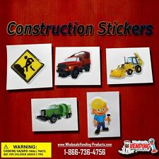 """250 Puffy Construction Stickers In 2"""" Vending Capsules"""