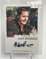 2011 Topps UFC Moment of Truth Autographs #CSMG Mike Goldberg