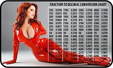 SEXY GIRL FRACTION TO DECIMAL CONV. REFRIGERATOR FRIDGE MAGNET SNAP ON TOOLBOX