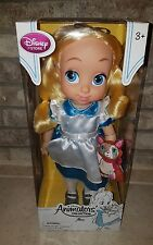 """Disney Store Animators' Collection Alice in Wonderland Doll 16"""" Tall New Damage"""