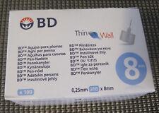 BD Micro-Thin Wall Pen-Nadeln 0,25mm (31G) 8mm 100 Stück  ++Neu/Ovp++