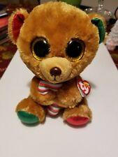"TY Beanie Boos 8"" Stuffed Plush BELLA the Bear w/ Heart Tags Christmas 2017 SALE"